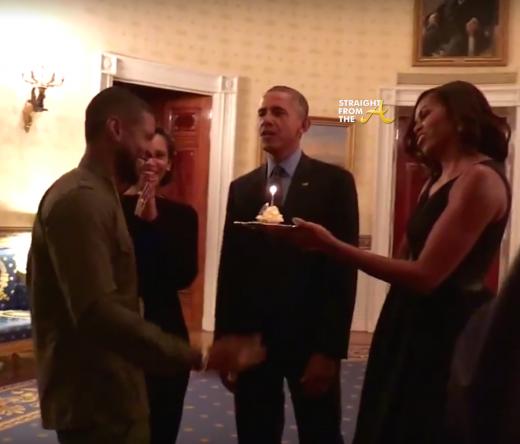 Usher Grace Miguel President Barack Obama Michell Obama StraightFromTheA