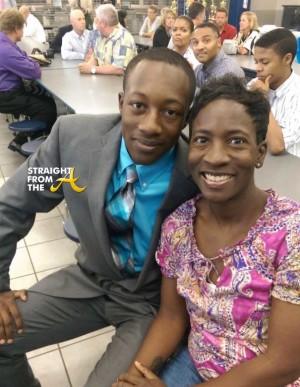 Jaizon Collins and Mom Tasha Edwards
