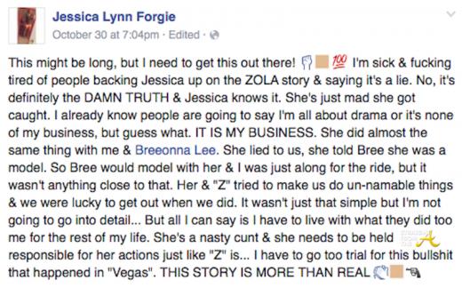 Jessica Lynn Forgie Zola Story SFTA