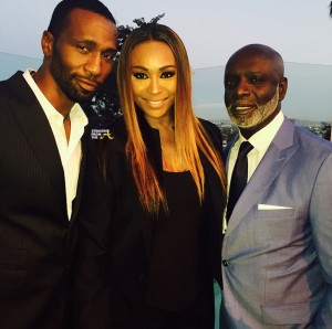 Leon-Robinson-Cynthia-Bailey-and-Peter-Thomas-at-Debra-L.-Lees-Pre-BET-Awards-Dinner-on-June-24-2015-