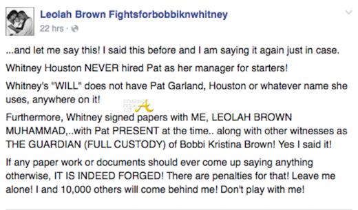 Leolah Brown FB 2016