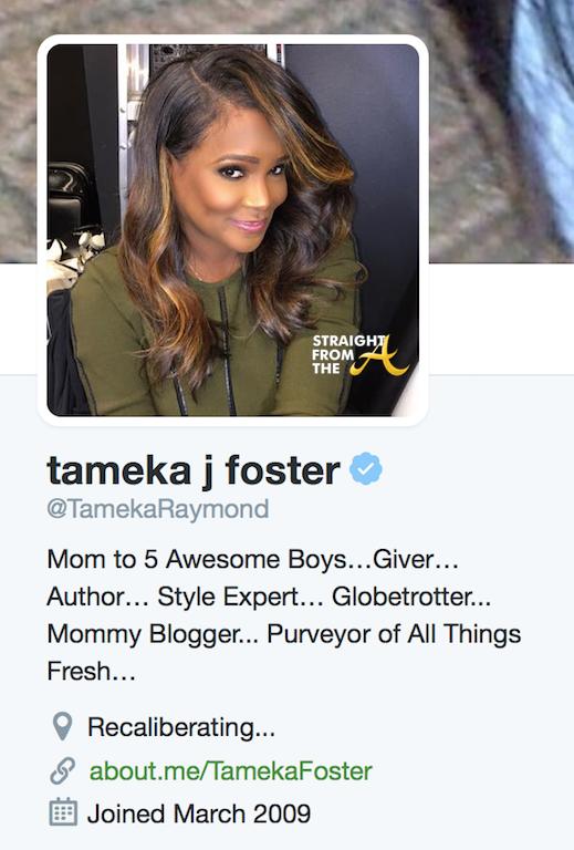 Tameka J Foster Twitter