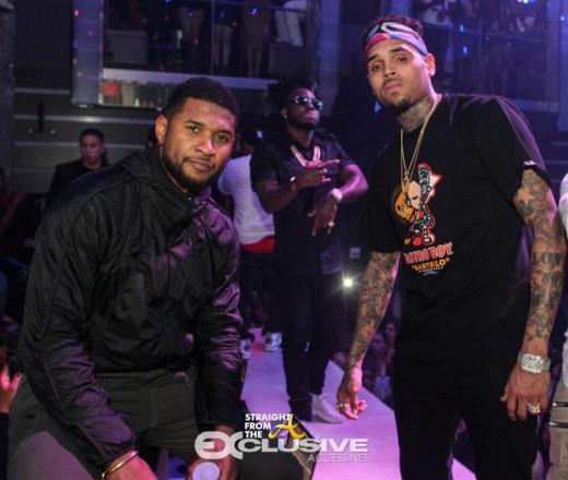 Usher Chris Brown LIV 2016 2