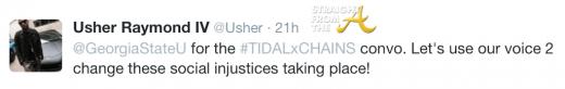 Usher Tweet