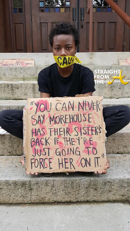 Raped At Morehouse Protest 1