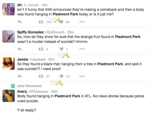 Piedmont Park Tweets