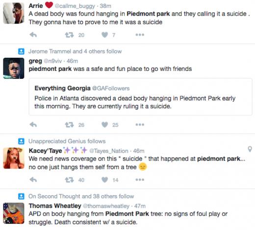 Piedmont Park Tweet