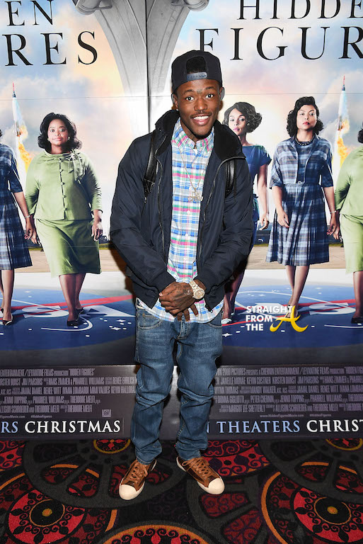 """ATLANTA, GA - NOVEMBER 16: DC Young Fly attends """"Hidden Figures"""" advanced screening hosted by Janelle Monae & Pharrell Williams at Regal Cinemas Atlantic Station Stadium 16 on November 16, 2016 in Atlanta, Georgia. (Photo by Paras Griffin/Getty Images for 20th Century Fox)"""