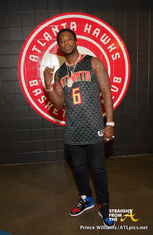 Gucci Mane Hawks Game