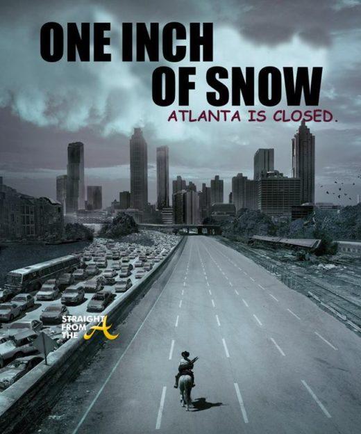Snow and Ice Shut Down City of Atlanta… (PHOTOS + VIDEO) #AtlantaSnow