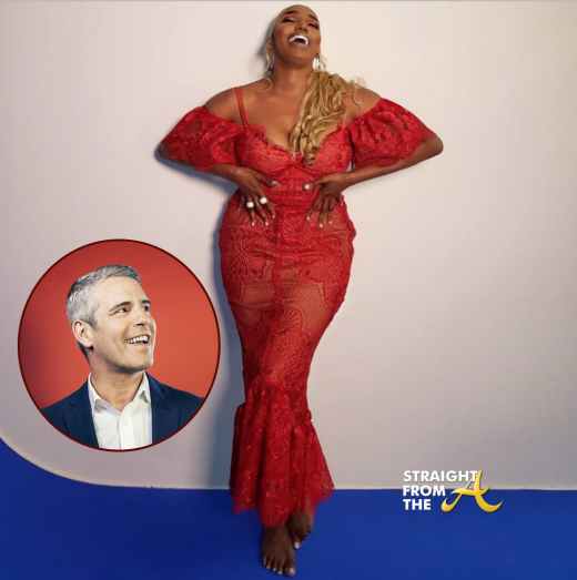#RHOA Nene Leakes Claps Back at Andy Cohen Over 'Recycled Dress' Commentary… (VIDEO)